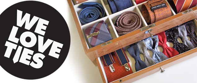 We love ties wooden case