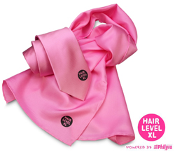 necktie and scarf with logo imprint