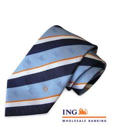 necktie with ING logo