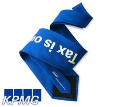 necktie with logo imprint