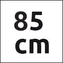 Tresanti belt dark beige suede - 85cm