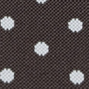 Suspenders brown with white polkadots