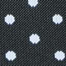 Suspenders black with white polka dots