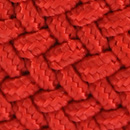 Braided belt vermilion red