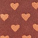 Mini tie keychain hearts rust