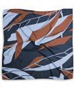 Scarf pattern navy rust