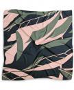 Scarf pattern green pink