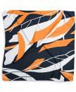 Scarf pattern orange white