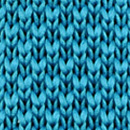 Necktie knitted cyan blue