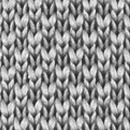 Necktie knitted grey
