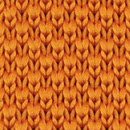 Necktie knitted orange