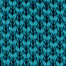 Necktie knitted petrol