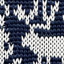 Bow tie Rudolph Reindeer blue