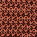 Necktie knitted rust