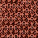 Sir Redman knitted tie rust brown
