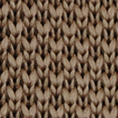 Bow tie knitted warm taupe