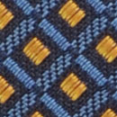 Necktie pattern denim blue ochre
