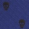 Mini tie keychain skulls blue