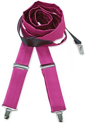 Suspenders tie fabric fuchsia