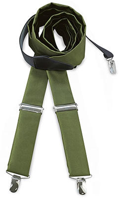 Suspenders tie fabric army green