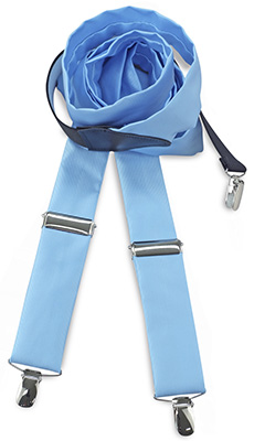 Suspenders tie fabric light blue