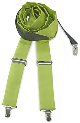 Suspenders tie fabric lime green