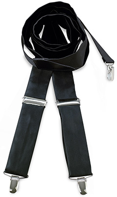 Suspenders tie fabric black