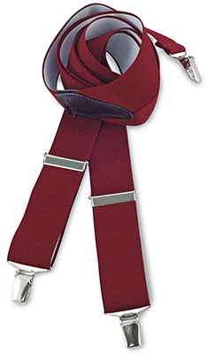 Suspenders bordeaux red