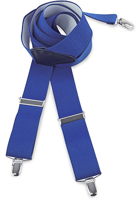 Suspenders royal blue