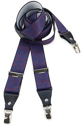 Suspenders Paisley Print