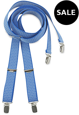 Suspenders small blue pattern