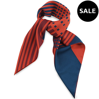 Scarf red / navy blue