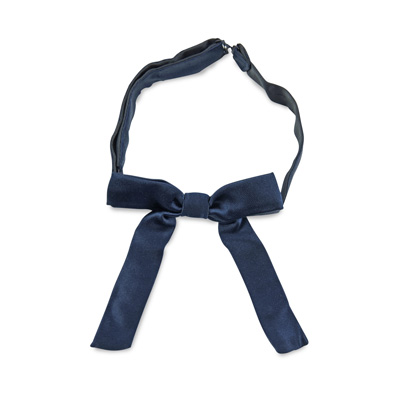 Kids bow tie dark blue