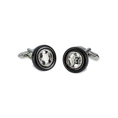 Cuff links Car tires