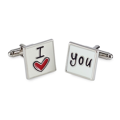 Cuff links I love you