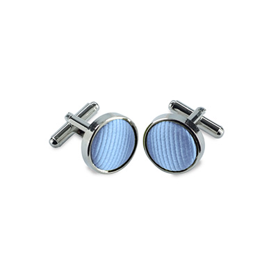 Cuff Links silk light blue