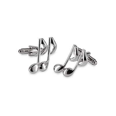 Cuff links Musical note