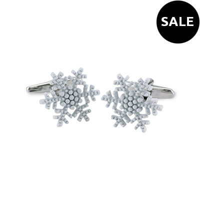 Cuff links Snowflake