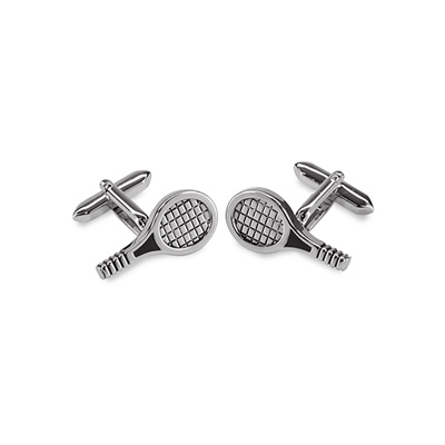 Cuff links Tennis racket