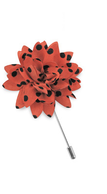 Lapel pin dahlia dots