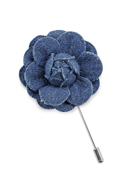 Lapel pin denim flower