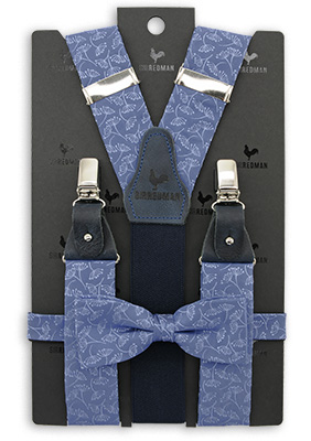 Sir Redman suspenders combi pack Botanical Flow - denim