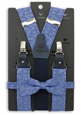 Sir Redman suspenders combi pack Botanical Flow - denim
