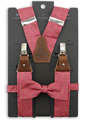 Sir Redman suspenders combi pack Botanical Flow - rose