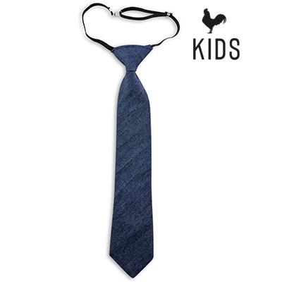 Sir Redman denim kids tie blue