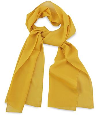 Scarf uni yellow