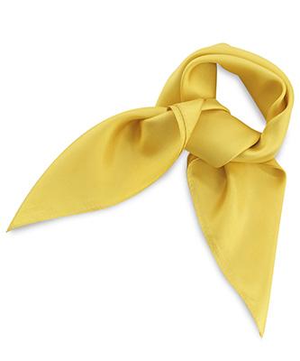Scarf silk yellow