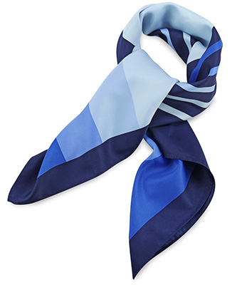 Scarf blue striped
