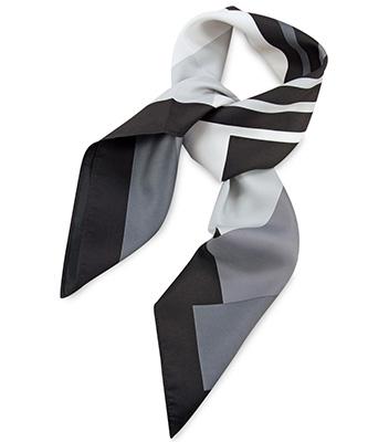 Scarf grey striped
