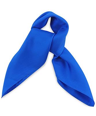 Scarf silk royal blue